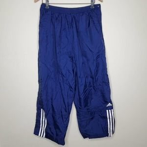 Adidas Blue Tear Away Pants 90s Grunge Windbreaker